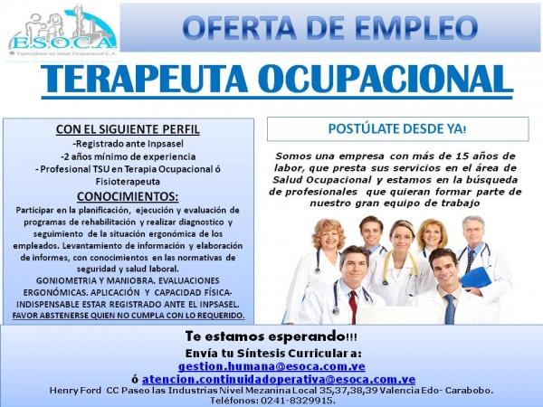 Terapeuta ocupacional - Esoca   Esoca Salud Ocupacional, Seguridad ...